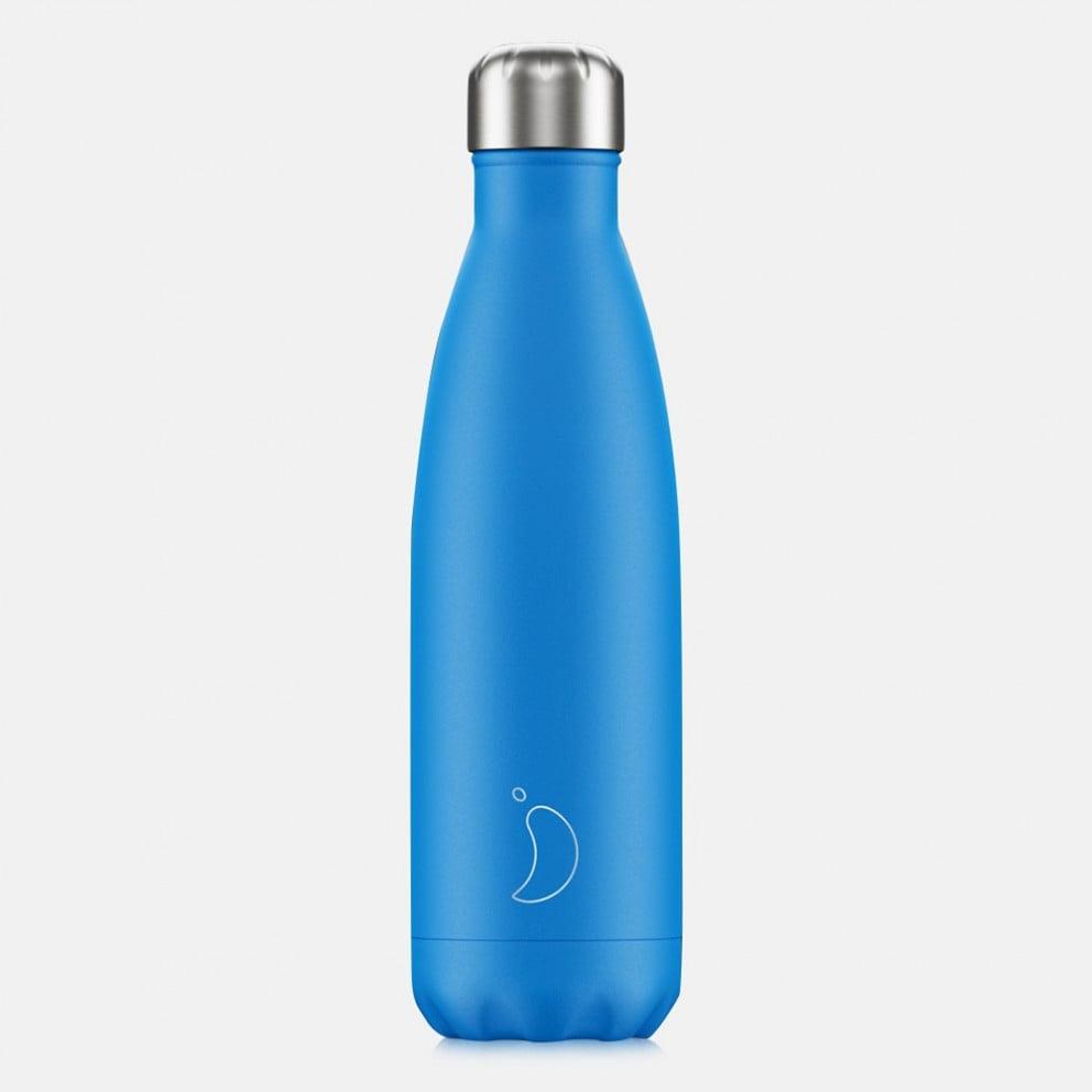 Chilly's Bottles Neon Blue 500ml