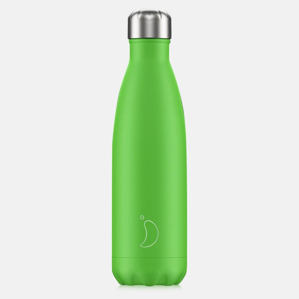 Chilly's Bottles Neon Green 500ml