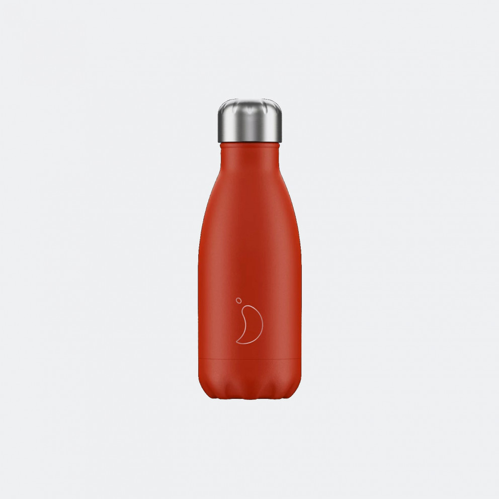 Chilly's Neon Red Ανοξείδωτο Μπουκάλι Θερμός 260ml