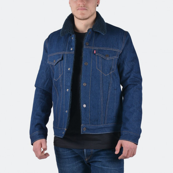 Levis TYPE 3 SHERPA TRUCKER INDIGO SHEEP