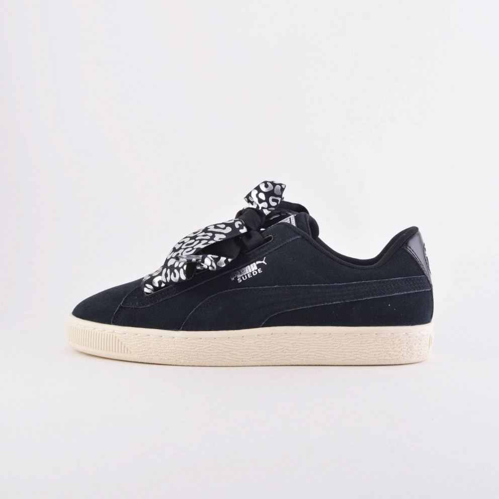 Puma Suede Heart AthLuxe Shoes BLACK