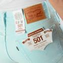 Levis 501 Skinny Acid Iced Aqua