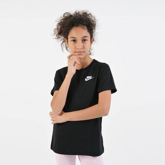Nike Girls Sports Wear Swoosh Tee - Παιδικό Μπλουζάκι