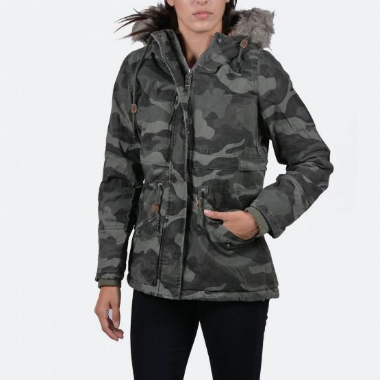 Emerson Women's hooded jkt with det/ble fake fur