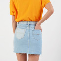Tommy Jeans Distressed Denim Skirt