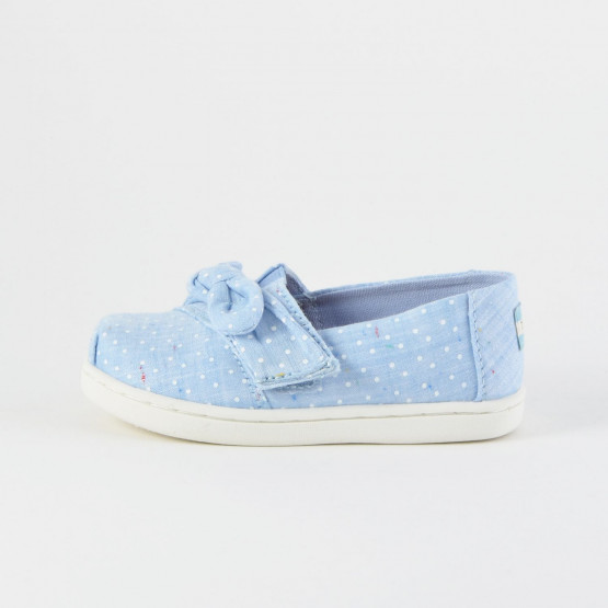 TOMS Speckled Chambray Dots Bow Tiny Classics