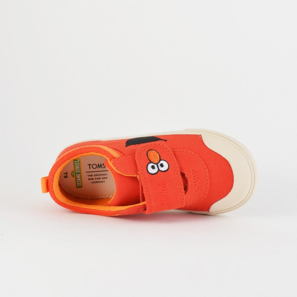 TOMS Red Elmo Face Canvas Tn Dohny Sneak