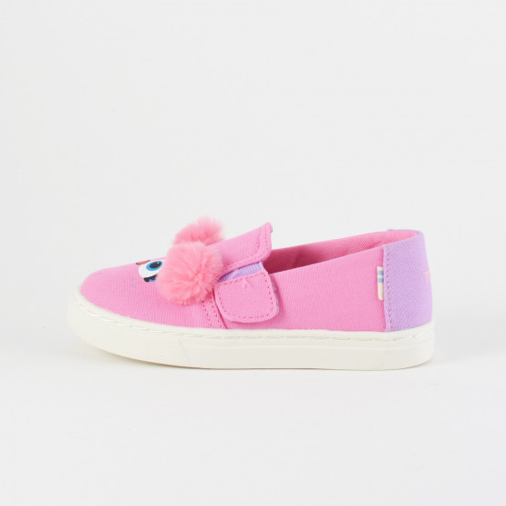 TOMS Pnk Abby Face Canvas Tn Luca Slipon
