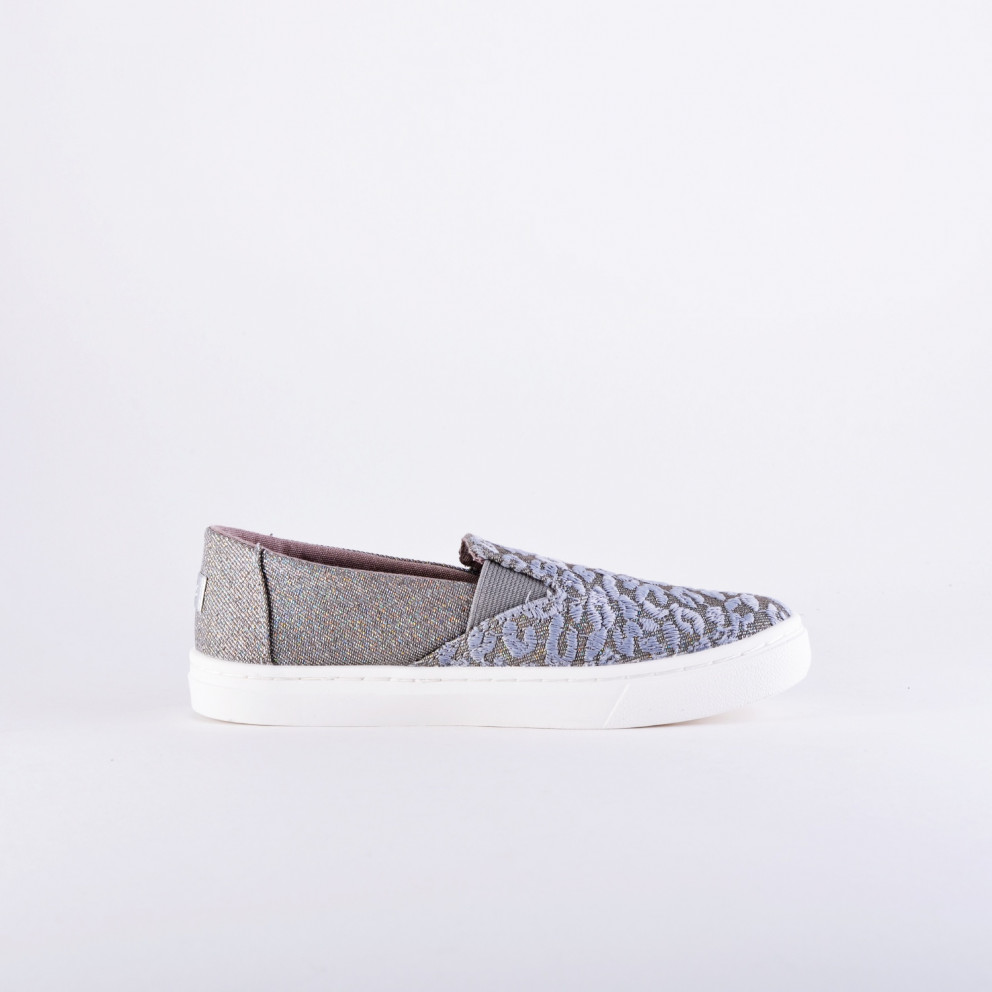 TOMS Twill Glimmer Youth Luca Slip On Shoes - Kid's Shoes