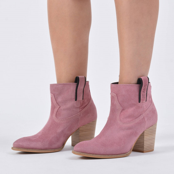 Tommy Jeans COWBOY SUEDE MID HEEL BOOT