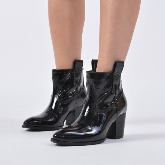 Tommy Jeans PATENT LEATHER MID HEEL BOOT
