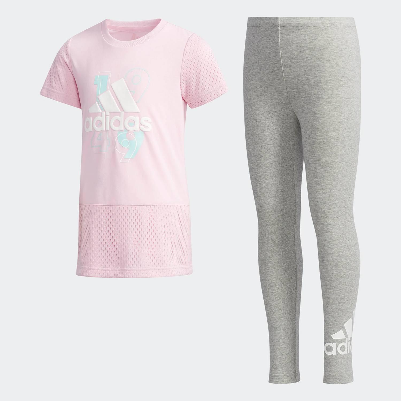 adidas Tee-and-Tights Set - Παιδικό Σετ για Κορίτσι