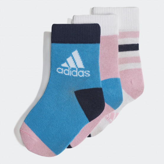 adidas Kid's Ankle Socks | 3-Per Pack