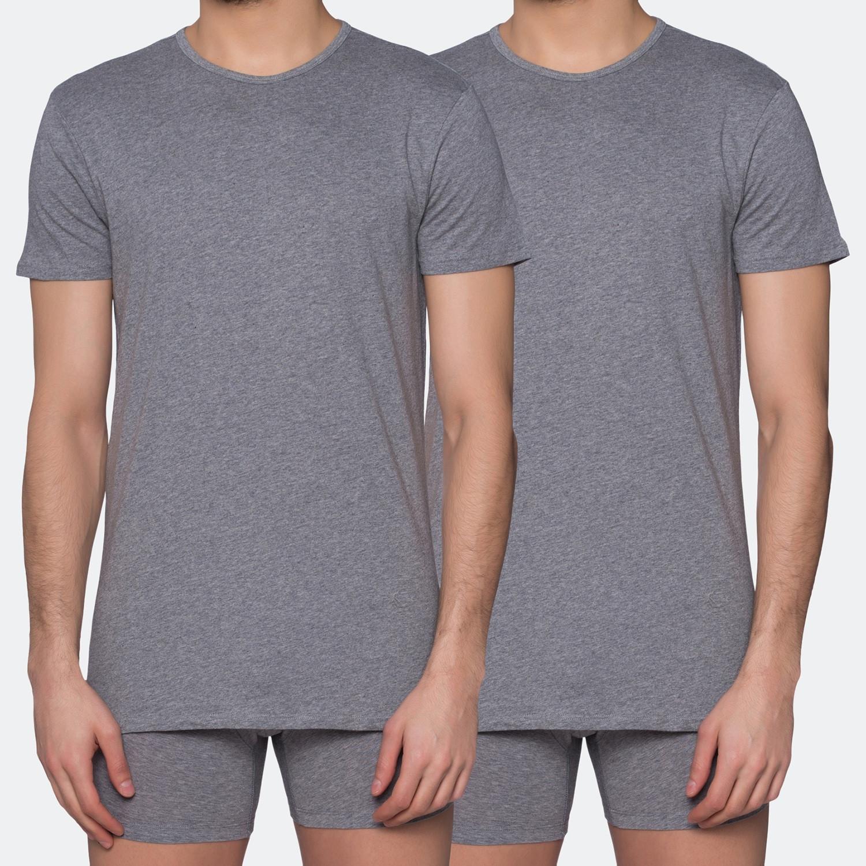 Puma Basic Crew Men's Grey Tee 2 Per Pack (9000017913_1730)
