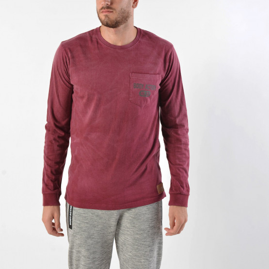 Body Action Men's Washed Long-SLeeve Tee