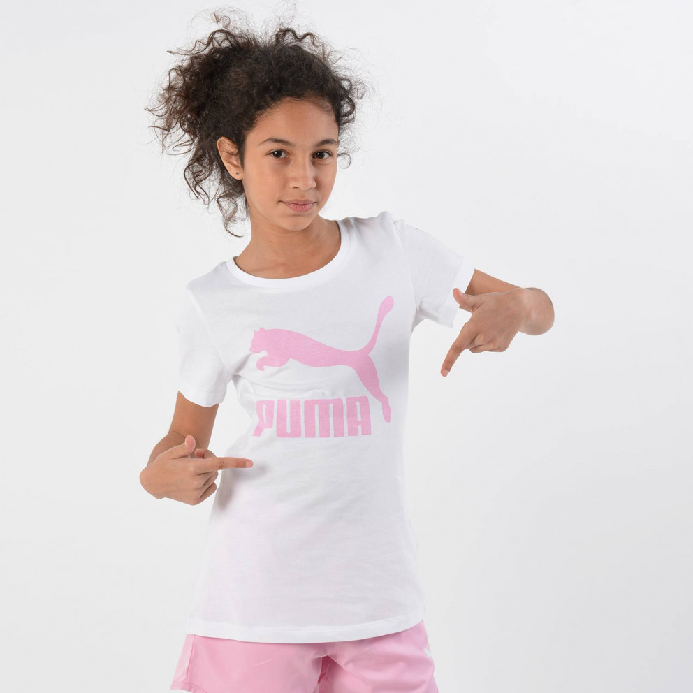 Puma Classics Short SLeeve Girls' Logo Tee