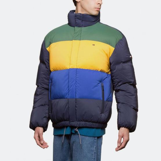 Tommy Jeans Stripe Print Oversize Bomber Jacket