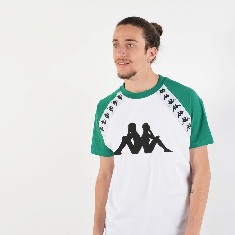 Kappa Men'S 222 Banda Bardi White Green T-Shirt - Ανδρική Μπλούζα