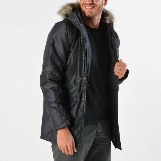 Basehit Men's Ηooded Jacket With Det/ble Fake Fur