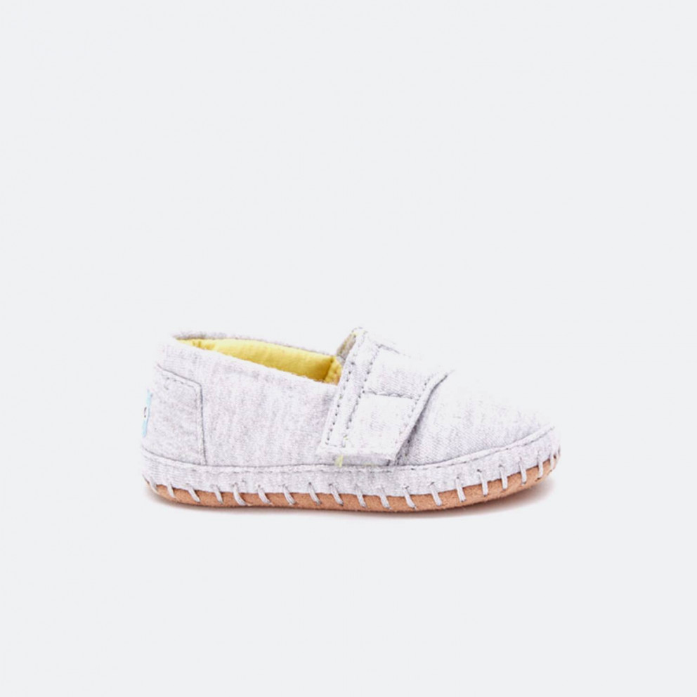 TOMS Grey Jersey Tn Crib Alpargata Lay