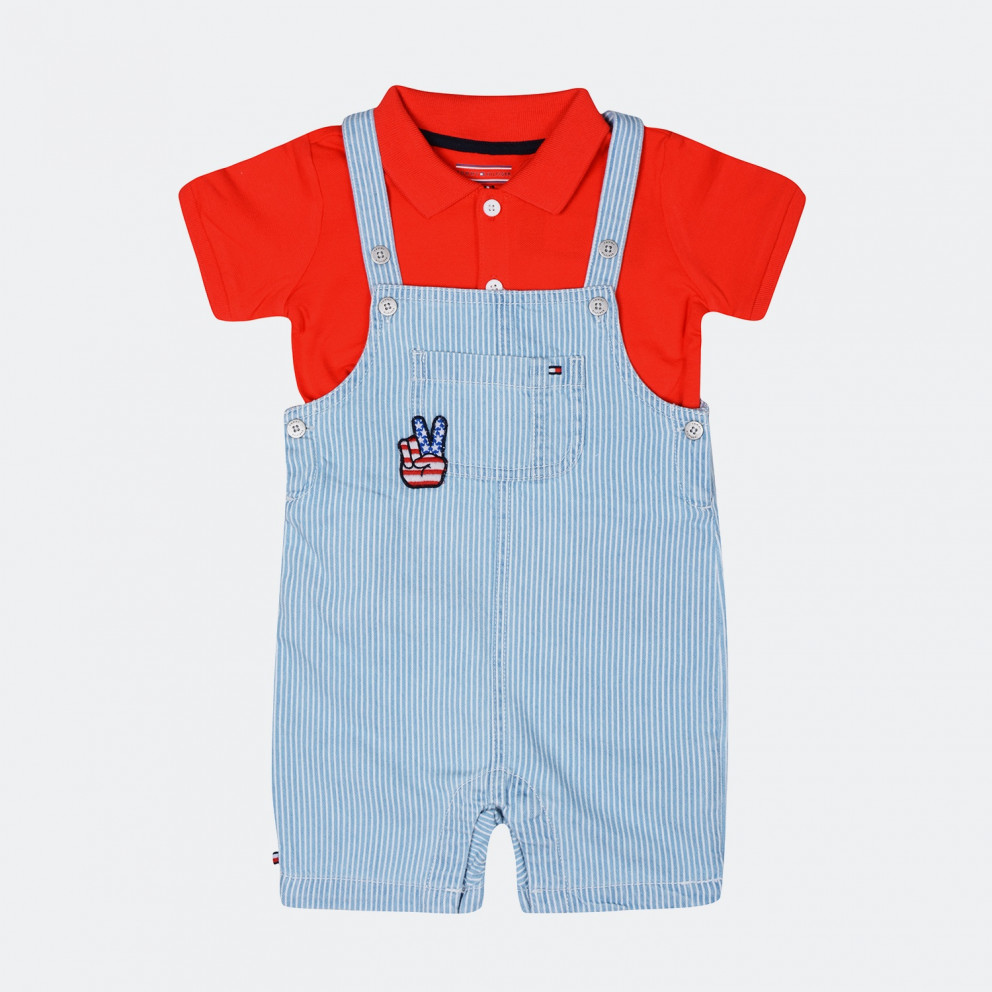 Tommy Jeans Peppy Dungaree Baby | Σαλοπέτα Για Μωρά