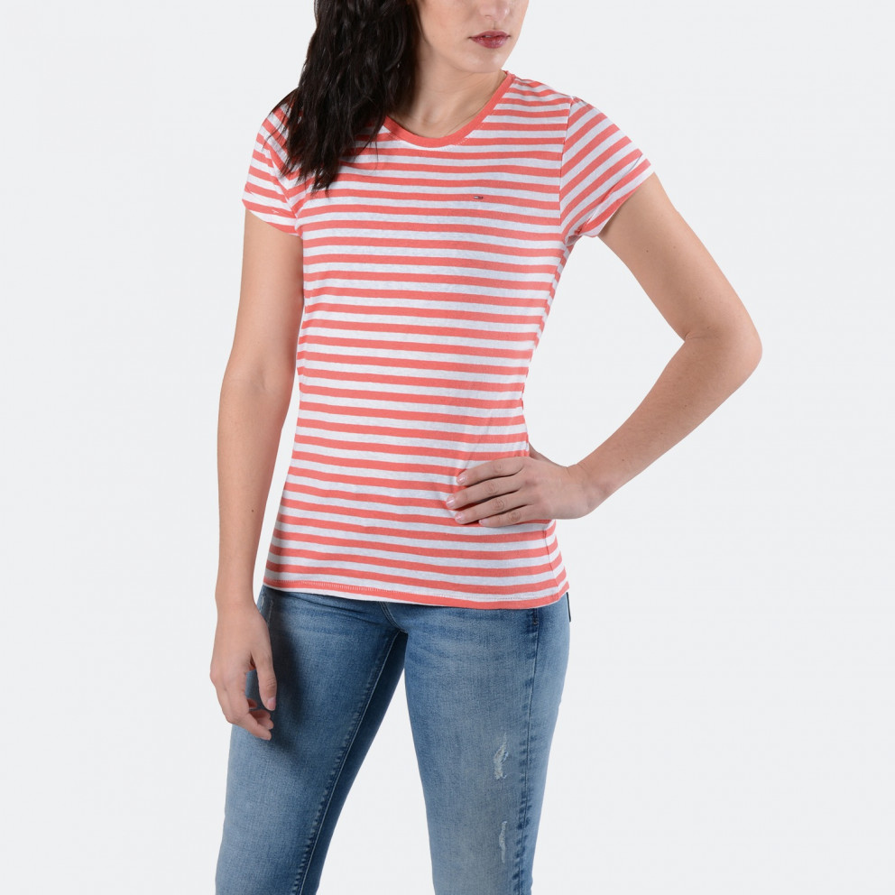 Tommy Jeans Linen Blend Stripe   Μοντέρνο T-Shirt