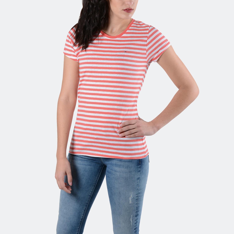 Tommy Jeans Linen Blend Stripe | Μοντέρνο T-shirt