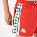 Kappa Men's Authentic Baten Red Black White Swim Shorts - Ανδρικό Μαγιό