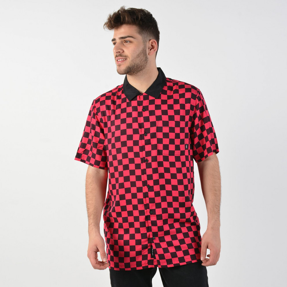 Vans Men's Checkeboard Camp Short Sleeve Buttondown Shirt