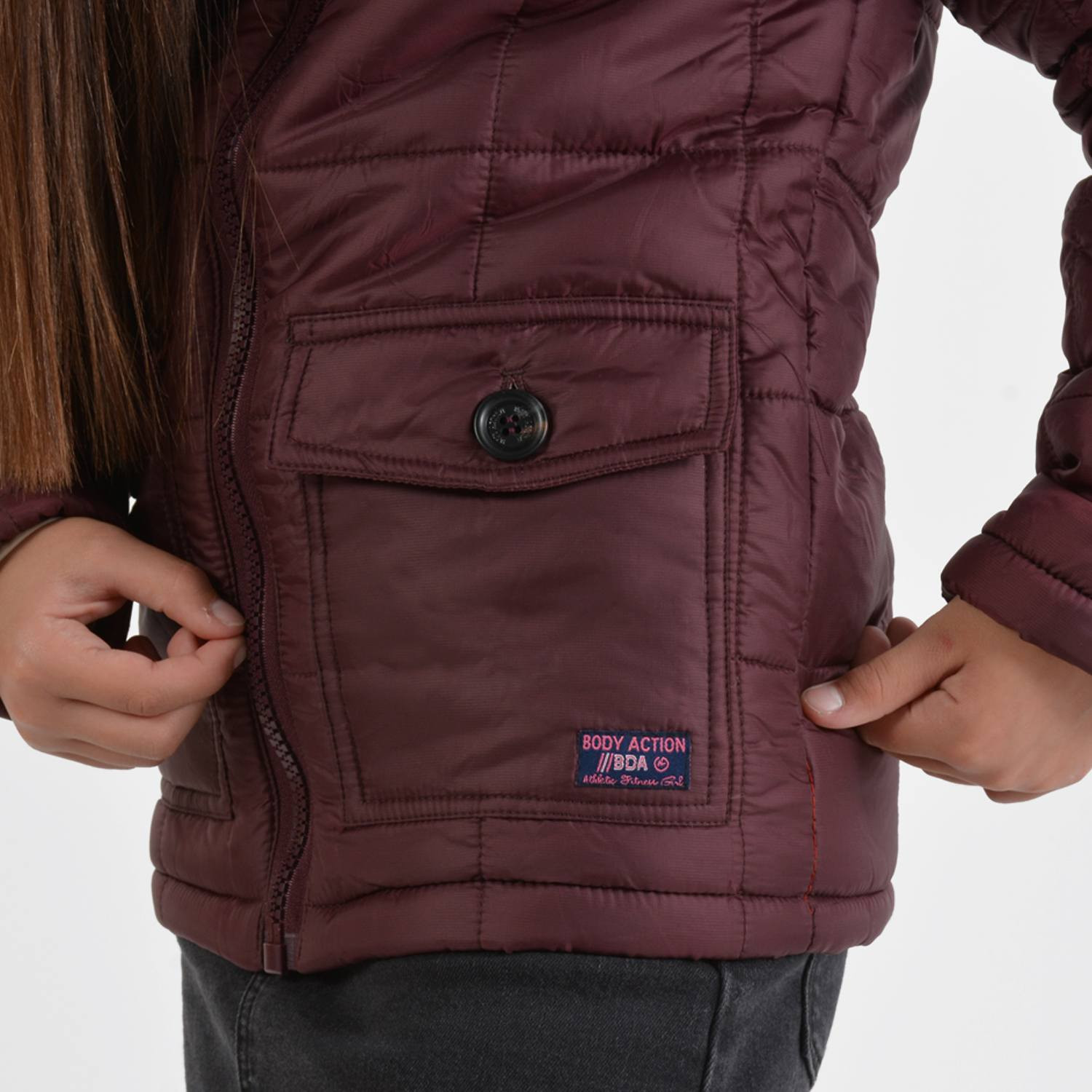 Body Action Girls Quilted Jacket