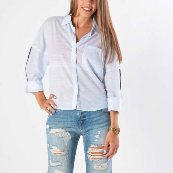 Tommy Jeans Cropped Boyfriend Shirt
