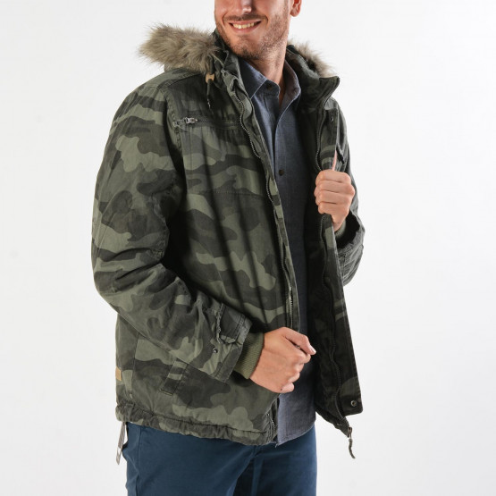 Basehit Men's Jacket With Detachable Fur