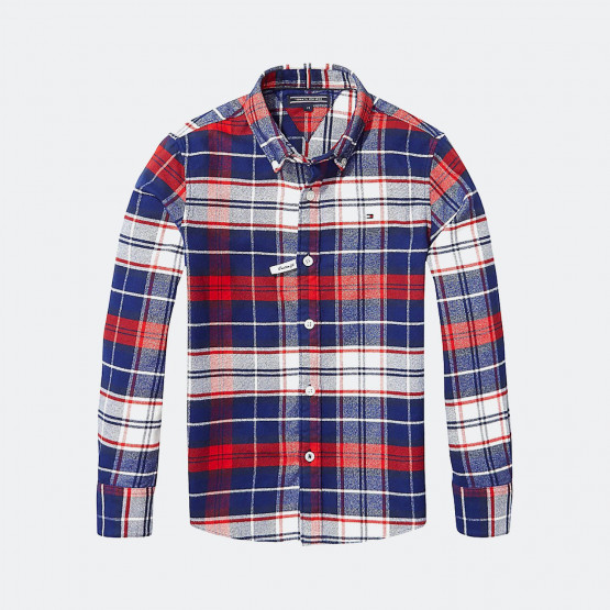 Tommy Jeans Regular Fit Plaid Shirt | Παιδικό Πουκάμισο