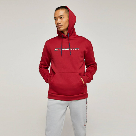 Tommy Sport Men's FLeece Logo Hoodie - Ανδρικό Φούτερ