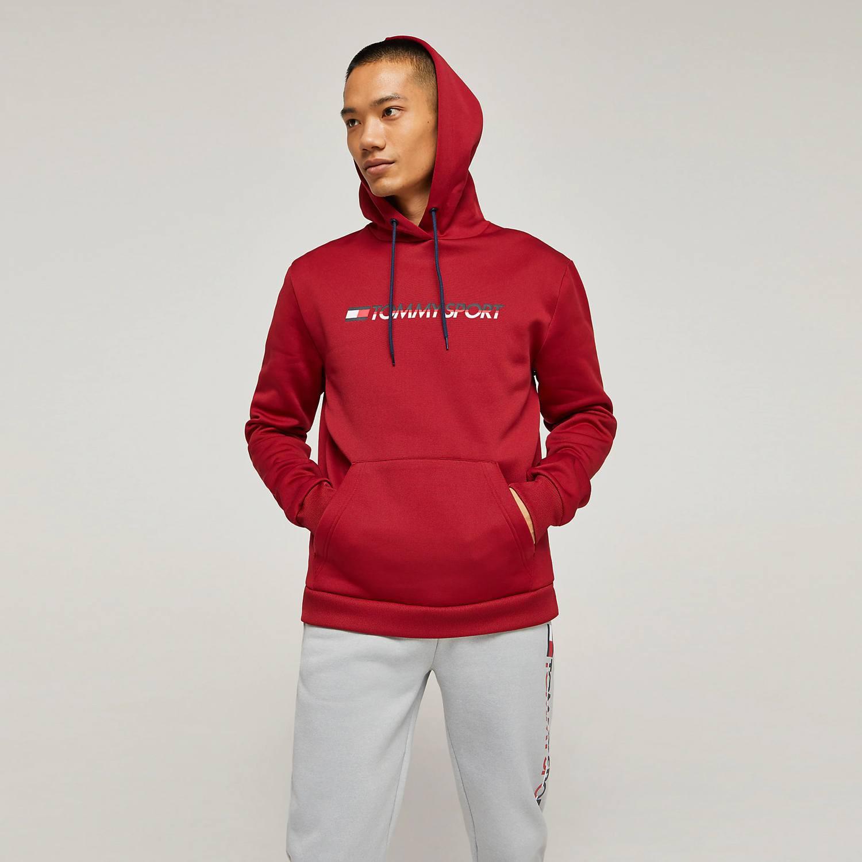 Tommy Sport Men's Fleece Logo Hoodie - Ανδρικό Φούτερ (9000039878_1602)
