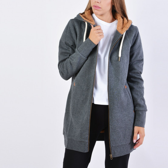 Body Action WOMEN FUR LINED LONG HOODIE