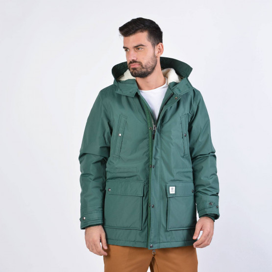 Franklin & Marshall JACKETS NYLON ZIP + HOOD LONG