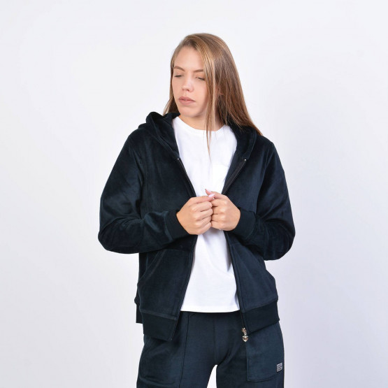Body Action Velour Hoodie Jacket