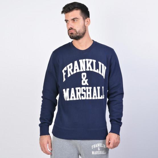 Franklin & Marshall FLeece Cotton Round Neck Sweatshirt