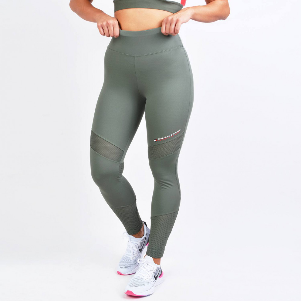 Tommy Sport Blocked Legging Full Length Beetle S10s100255 302