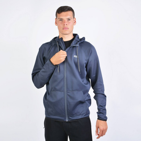 Basehit Men's Hooded Zip Up Track Jacket
