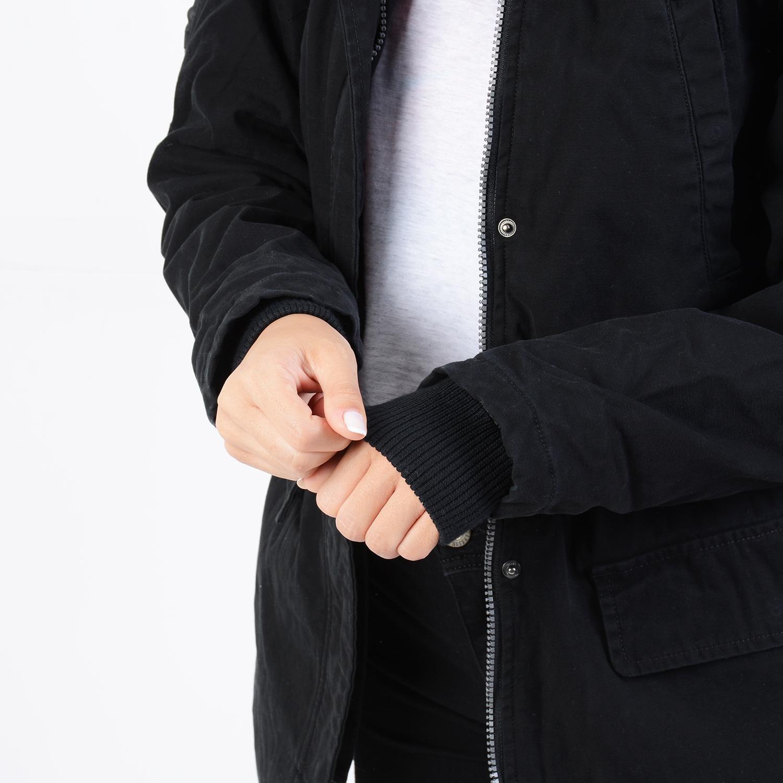 Basehit Women's Washed Long Jacket with Hood