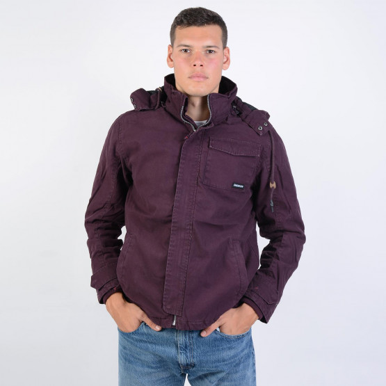 Emerson Men's Washed Jacket With Det/ble Hood