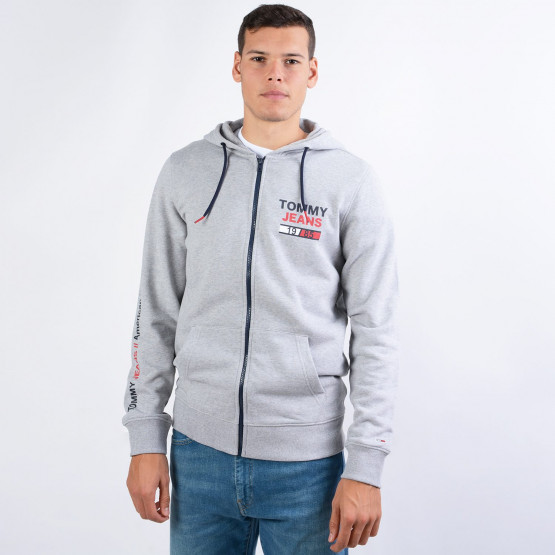 Tommy Jeans Men's Essential Graphic Zip Through Hoodie