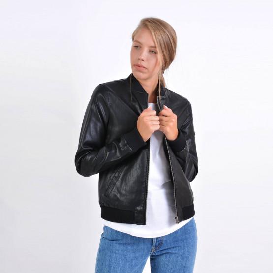 Emerson Women's Ribbed Pu Jackets