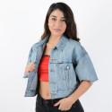 Levi's Women's Cropped Dad Sherpa Trucker Jacket