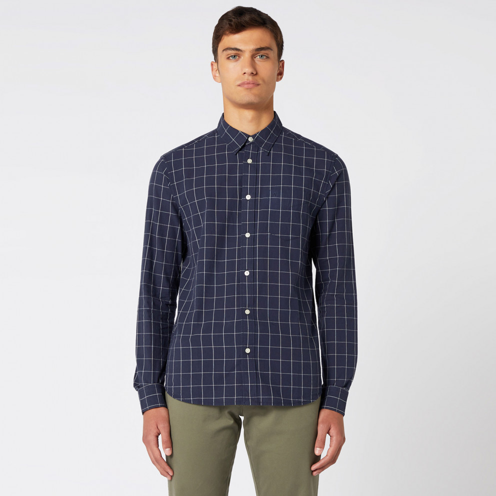 Wrangler Ls 1 Pkt Shirt Navy