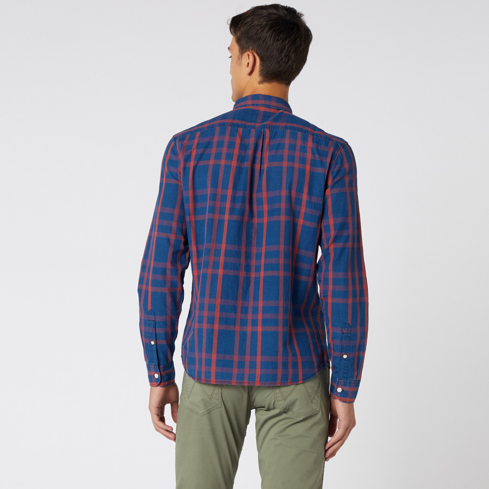 Wrangler Ls 2 Pkt Flap Shirt Formula Red