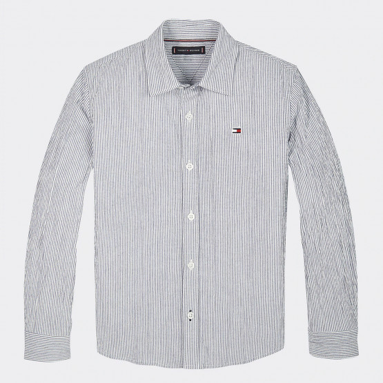 Tommy Jeans Seersucker Stripe Kids Shirt