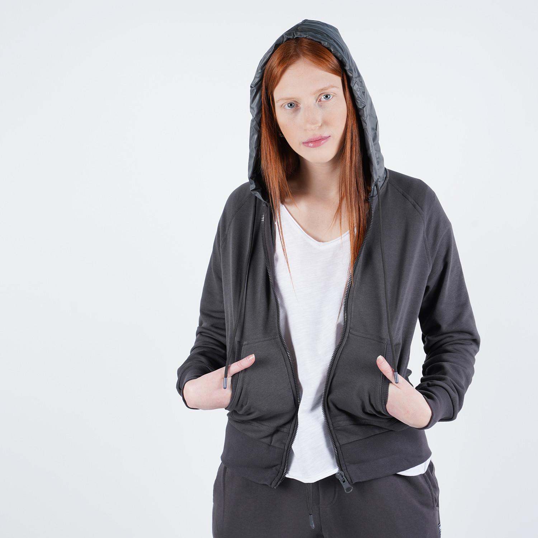 Bodytalk Women'S Loose Hooded Zip Sweater (9000048832_3568)